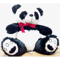 Urso De Pelúcia Panda Grande Coração - Pronta Entrega!