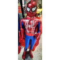 Disfraz Halloween Spiderman Hombre Araña Niño Mascara Fiesta