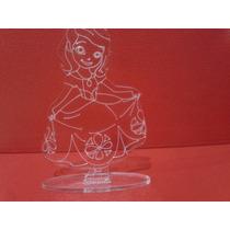 Souvenir Princesa Sofia En Acrilico Grabado Laser