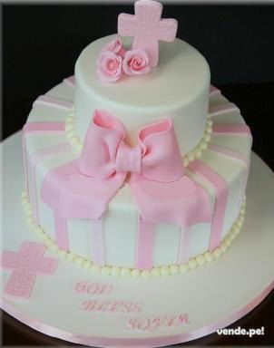 tortas para primera comunion de tres pisos