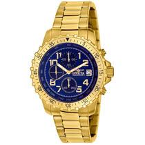 Relógio Invicta Specialty Unisex 6399 Banhado Em Ouro18k !