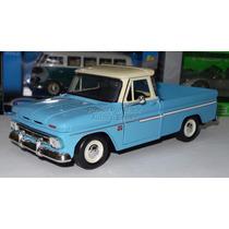 1:24 Chevrolet C10 Pickup 1966 Azul Motor Max Display