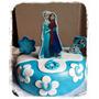Torta Decorada Frozen Elsa Olaf Pelicula Disney Baño Wilton