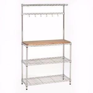 Estante com bancada balc o de madeira para cozinha e for Muebles de cocina walmart