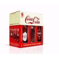 Coca Cola Retrô Kit Com 6 Garrafas Edição Comemorativa Natal