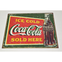 Tsn1393 Letrero Lamina Decorativa Coca Cola Ice Cold
