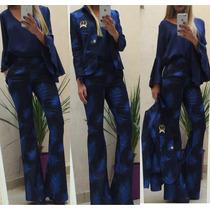 Pantalon Oxford Mujer Tiro Alto Gabardina Elastizado Jeans.