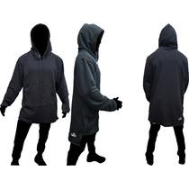 Id175 Buzos Largos Negro Hoodies Moda Tendencia