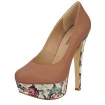 Zapatos Cklass 2015 Pumps Color Nude Nuevos Plataforma