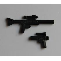 Lego Star Wars Arma Larga Y Pistola 2x $50 Minifiguras