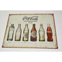Tsn1839 Letrero Lamina Decorativa Coca Cola Evolution