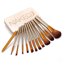 Set Kit Estuche De 12 Brochas Y Pinceles Naked Maquillaje