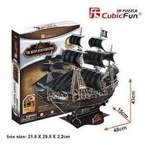 Quebra Cabeça 3d The Queen Annes Revenge 155pç Puzzle Navio