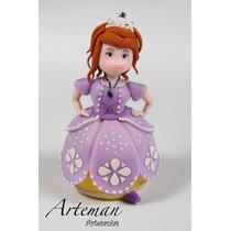 Princesa Sofía Adorno Para Torta En Porcelana Fría