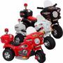 Mini Moto Eletrica Infantil Triciclo Policia 6v 2.3km/h Kids