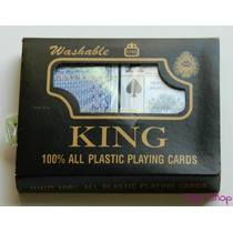 2 Mazos De Cartas Naipes De Poker King Plasticas