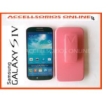Clip Combo Protector Samsung Galaxy S4 I9500 Rosa Barato!!!!