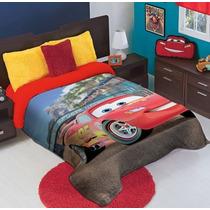 Cobertor Matrimonial Infantil Cars Hd Reverso Borrega
