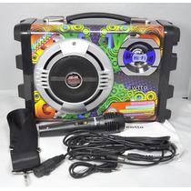 A020 - Caixa De Som E Karaoke Portátil Et-p2511 Ewtto