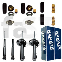 4 Amortecedores Nakata + Kits Vw Fox 2004/2015 Com Barra