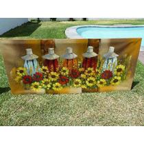 Pintura En Oleo Sobre Tela: Vendedoras De Flores G. P. S.