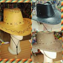 Sombrero Vaquero Gamuza Cowboy Cotillón Betina