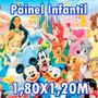 Painel Festa Tema Infantil Luna Princesas Ben10 Frozen Lona