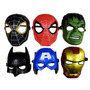 Mascaras Super Heroes 6 Modelos ( Iron Man, Batman, Hulk)