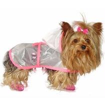 Capa De Chuva Para Cães Cachorros Impermeável Luxo N3