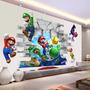 3d Wall Sticker Adesivo 3d Piso Parede Super Mario Bros