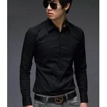 Camisa Slim Fit - Moda Coreana