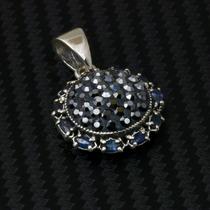 Pingente De Prata 925 Com Pedras Preciosas