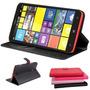 Capa Nokia Lumia 1320 Capinha Carteira De Couro Sintetico