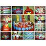 Angry Birds - Candy Bar . Cumple Completo Para 20 Niños