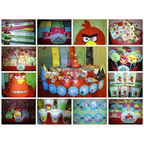Angry Birds - Candy Bar . Cumple Completo Para 20 Niños