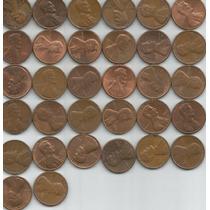 Estados Unidos Lote De 88 Monedas De Un Centavo