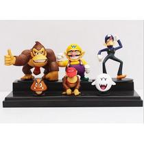 Kit Festas Mario Bros Bonecos Donkey Kong Dixie Kong Goomba