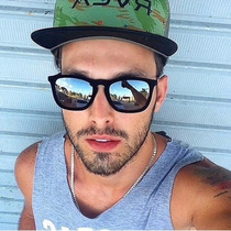 Oculos De Sol Masculino /f Uissex Espelhado Veludo Aveludado