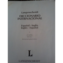 Diccionario Español/ingles-ingles/español Internacional Lang