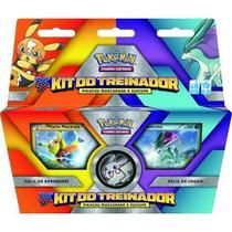 Pokémon Kit Do Treinador Pikachu Mascarada E Suicune 2 Decks