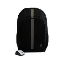 Mochila Backpack Hp Plume 15.6 + Mouse Gris Inalámbrico