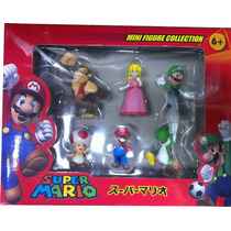 6 Figuras De Super Mario Bros Original - Sellado
