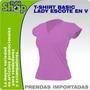 T-shirt -dama-v- Camiseta- Por Mayor- Bordar- Estampar