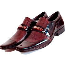 Sapato Social Elegância Estilo Envernizado Franca-sp Dhl !!!