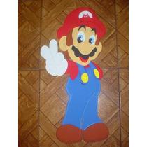 Mario Bros Personaje Nintendo De 80cm En Foami Para Decorar