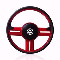 Volante Rallye Vermelho Gol/ Parati/ Saveiro Quadrado + Cubo