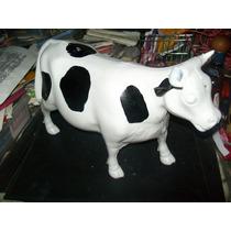 Gcg Vaca Grande Blanca De Plastico Juguete Tradicional Retro