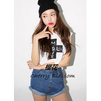 Playera Crop Top Cruz Kawaii Ropa Japonesa Japon Corea