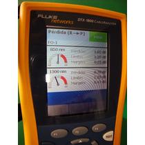 Escaneo A Fibra Óptica, Pruebas Con Dtx-1800 Fluke Networks