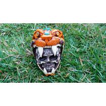 Artesanía, Cráneo Con Jaguar, Concha Nácar, Cuarzos.